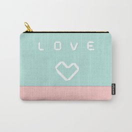 Paper love on mint green Carry-All Pouch