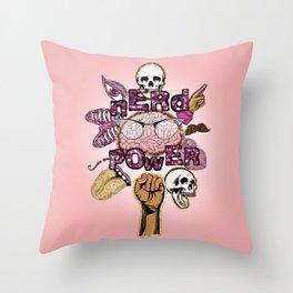 nerd power 2 Throw Pillow