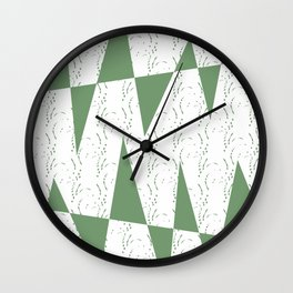 Abstract geometric pattern on white background Wall Clock