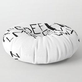 Alphabet #2 Floor Pillow