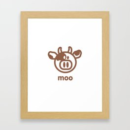 Cow : moo Framed Art Print