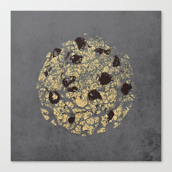 crumbling cookie Canvas Print