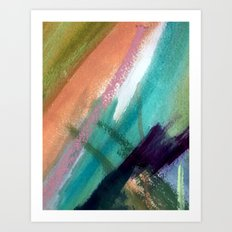 Lucky [5] - a bright abstract mixed media piece Art Print