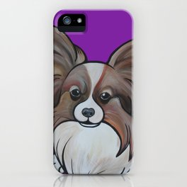 Murphy the papillon iPhone Case