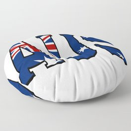 Abbreviated Australia with Flag Floor Pillow