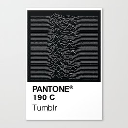 Color Swatch - Joy Division Canvas Print