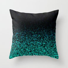 Mint Sparkle Throw Pillow