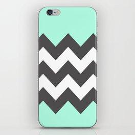 Minty Chevron iPhone Skin