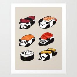 Sushi Panda Art Print