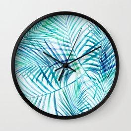 Tropical Palm Pattern Wall Clock