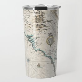 Vintage Map of The Carolinas (1676) Travel Mug