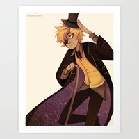 bill cipher Art Prints featuring bill cipher by Sunny