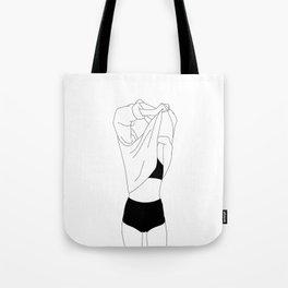 Minimalist fashion illustration - Helene Tote Bag