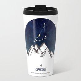Astrology Capricorn Zodiac Horoscope Constellation Star Sign Watercolor Poster Wall Art Travel Mug