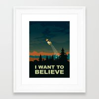 i want to believe Framed Art Prints featuring I want to believe by mangulica