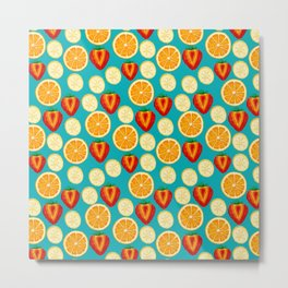 Fruit Explosion spaced by Keyton Design Metal Print