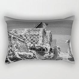 Lobster pots on the Norfolk coast Rectangular Pillow