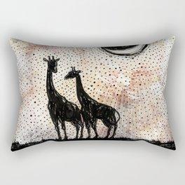 Giraffes in the Sunset Rectangular Pillow