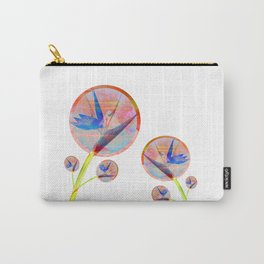 Impossible Floral Magic Minimalism Carry-All Pouch