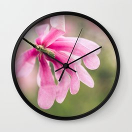 The Magnolia Bloomed Yesterday Wall Clock