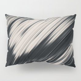 Slight. Black and White Abstract Pillow Sham