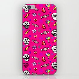 Skulls 'n' Flowers iPhone Skin
