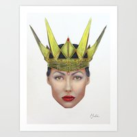 evil queen Art Prints featuring Evil Queen by Christina Quackenbush