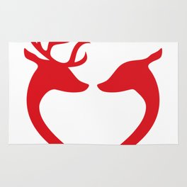 Red Deer Heart Rug