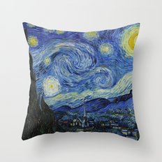 Starry Night by Vincent van Gogh Throw Pillow