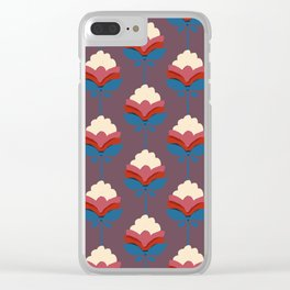 Retro fall florals- n. 2 Clear iPhone Case