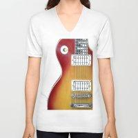 les mis V-neck T-shirts featuring Les Paul by Brian Raggatt