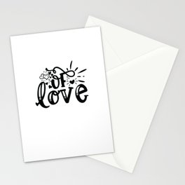 Of Love - Funny Family humor - Cute typography - Lovely quotes illustration Stationery Cards