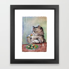 Sushi Cat- Fancy Feast Framed Art Print