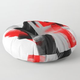 dancing abstract red white black grey digital art Floor Pillow