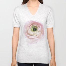 Pink Ranunculus Flower I Unisex V-Neck