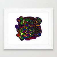 psychadelic Framed Art Prints featuring Psychadelic by Groolya