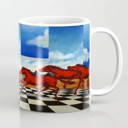 Red Stampede Coffee Mug