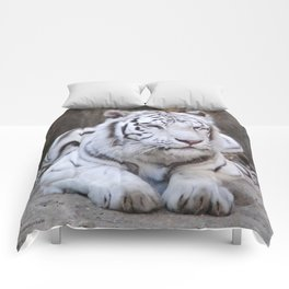 White Tiger Comforters