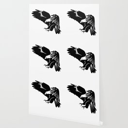 Silhouette of flying eagle Wallpaper