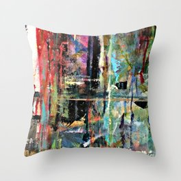 Colorful Bohemian Abstract 2 Throw Pillow