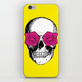 Skull and Roses | Yellow and Pink iPhone Skin