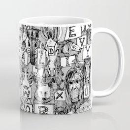 animal ABC black white Coffee Mug