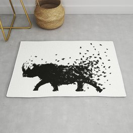 Save the Rhinos fading away Rug