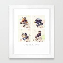 Star Team - Squad Goals Framed Art Print