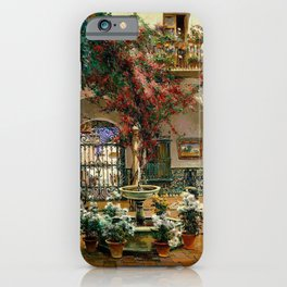 Interior Courtyard Seville Spain by Manuel Garcia Y Rodriguez iPhone Case