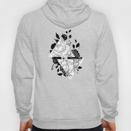 Abstract peonies Hoody