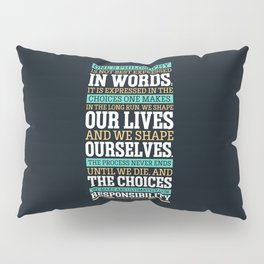 Lab No. 4 One's Philosophy Is Not Best Expressed Eleanor Roosevelt Life Inspirational Quote Pillow Sham