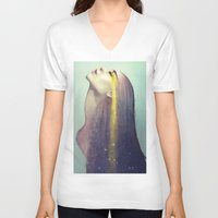 constellation V-neck T-shirts featuring Constellation by Anna Dittmann