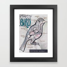 Anatomical Bird Framed Art Print