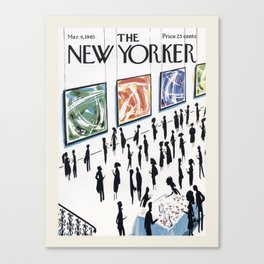 """Cover of """" The new Yorker"""" magazine. Mar. 6 1965. Canvas Print"""
